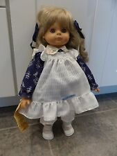 "Vintage Engel Puppe(n) Doll, Gretchen, 1986, 17"", Kanekelon Hair"