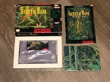 Secret of Mana Super Nintendo Snes Complete CIB Cleaned & Tested Authentic