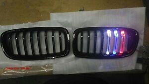 MIT GLOSS BLACK FRONT KIDNEY GRILLE  M LED BMW F30 F31 F35 3 SERIES 2012-ON