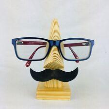 Handmade Wooden Nose Shaped Spectacle Specs Eyeglass Sunnies Holder