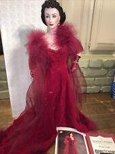 "Scarlett O'Hara ""Scarlett's Shame� Franklin Mint Porcelain Doll Vintage 1991"