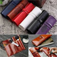 Retro Vintage Pencil Pen Case Roll Cosmetic Pouch Pocke BRush Holder Makeup BR