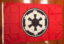 New listing Star Wars Galactic Empire Flag 3' x 5' Dark Side Father Vader Luke Red