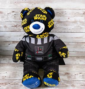 Build-A-Bear Plush Black Blue and Yellow Star Wars Logo Darth Vader