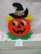Vintage Melted Popcorn Plastic Decor Halloween Pumpkin Jack o lantern E