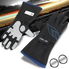 NRG GS-500BK-L Large 2-Layer Racing Full Ginger Gloves SFI+Blind Spot Mirror
