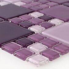 Glasmosaik Fliesen Purple %7c Bad WC Wand Bordüre Küchenspiegel Badezimmer