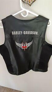 Harley Davidson Women's Leather vest XL