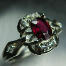 Topaz Natural Ruby Sterling Silver Fine Rings