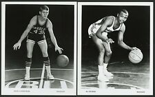 1968-69 DAVE LUNDSTROM & 1969-70 AL CRUSOE BRADLEY BRAVES BASKETBALL PHOTO CARDS
