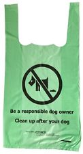 500 x Green biodegradable tie-handle dog waste / doggy poo poop bags