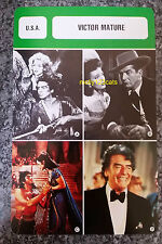 US Stage Film & Television Actor Victor Mature French Film Trade Card