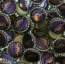 Soda pop bottle caps Lot of 25 SUN RISE GRAPE #2 plastic unused new old stock