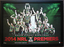 South Sydney Rabbitohs 2014 NRL Premiers NRL Grand Final Poster Framed
