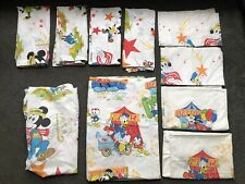 Vintage 1979 10 Piece Mickey Mouse Twin Bedding Set Carnival Pillowcases Disney