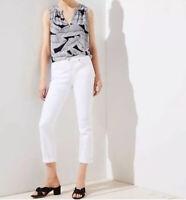 Ann Taylor Loft White Modern Crop Jeans Cropped Womens Sz 27/4
