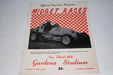 Midget Auto Racing Program, Gardena Stadium, California May 18, 1958