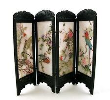 Melody Jane Dolls House Miniature Chinese Boudoir Dressing Screen Exotic Birds