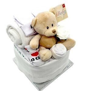 New Baby Gift Nappy Cake Basket Baby Hamper Baby Shower Gift Basket Boy Girl