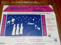 "VINTAGE Stik-ees - Christmas Window Decals / Stickers - ""THREE WISE MEN"" -SEALED"
