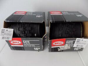 """2 BELL GATE 16"""" 2.125 BMX TIRES"""