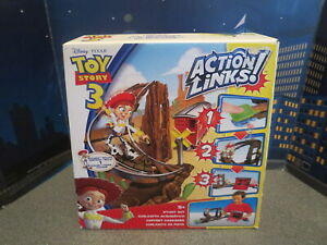 DISNEY PIXAR TOY STORY 3 ACTION LINKS STUNT SET JESSIE TO THE RESCUE BY MATTEL