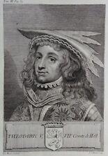 Gravure Antique print THEODORIC V Comte de Hollande Flipart Count of Holland