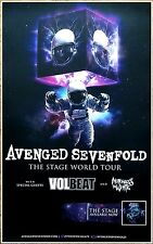 AVENGED SEVENFOLD | VOLBEAT | MIW The Stage 2017 Ltd Ed RARE New Tour Poster A7X