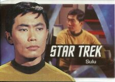 Star Trek 50th Anniversary Bridge Crew Heroes Chase Card P6 Sulu