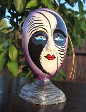 """Ceramic Self Standing Face Mask Glazed 6"""" Mexico Day of The Dead Art Balance"""