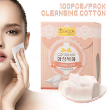 100Pcs/pack Facial Cotton  Soft Natural Cleansing Wipes Make-Up Remover