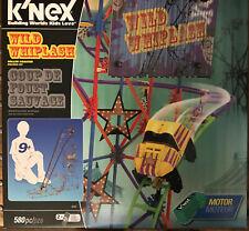 K'Nex Wild Whiplash Motorized Roller Coaster Set New
