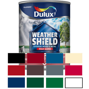 Dulux Weathershield Exterior Quick Dry&Satin&Gloss for Wood & Metal ALL COLOURS
