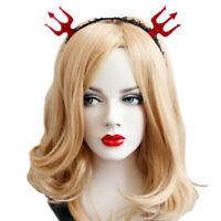 Headband Gothic Halloween Devil Pitchfork Lace Costume Ball Party Women Hairb_ne