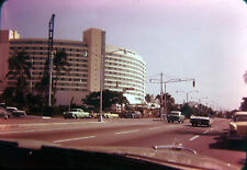 Hotel Fontainbleau Miami Beach FL Street Cars Color Photo 35mm Slide 1950s