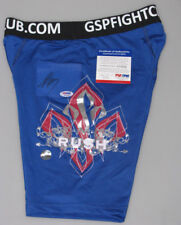 GEORGES RUSH ST PIERRE 'GSP' Hand Signed Trunks 2 / Shorts UFC+ PSA DNA COA
