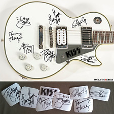 Kiss stickers autographs Paul Stanley, Gene Simmons, Eric Singer, Tommy Thayer