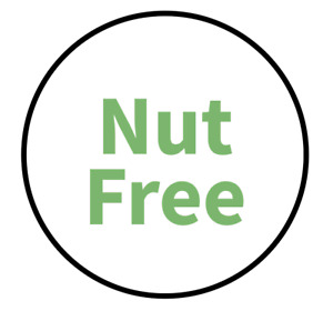 """""""Nut Free"""" Food Allergy Labels - Green - 19mm (117 per sheet)"""
