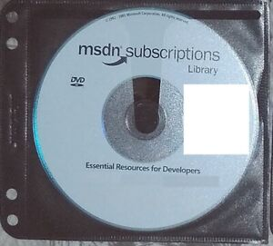 2001 October DVD Setup - Microsoft MSDN Subscriptions Library Genuine disc + slv