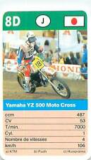 YAMAHA YZ 500 CROSS  JAPON JAPAN SPORT MOTO 70s 80s PLAYING CARD CARTE À JOUER