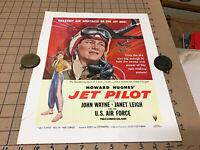 RARE Original 1950s mini POSTER Howard Hughes JET PILOT john wayne janet leigh#4