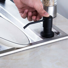 Stainless Steel Black Matte Kitchen Sink Liquid Soap Dispenser ABS Bottle 250ml