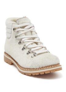 La Montelliana - Margherita Genuine Calf Hair & Fur Lace-Up Boot Size 40 US 9