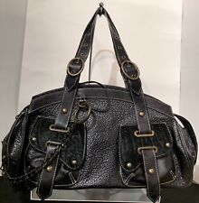 Claudia Firenze Handbag 👜 Satchel Leather Fur Chain Made in Italy 🇮🇹 NWOT