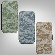 Camouflage Camo Military Army Print FLIP WALLET PHONE CASE COVER