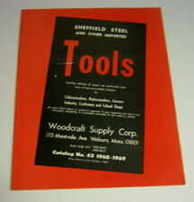 1969 SHEFFIELD STEEL AND OTHER IMPORTED TOOLS CATALOG Woodcraft Supply Corp