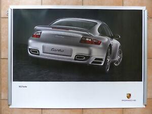 Porsche 911 Turbo Heckansicht Typ 997 MJ 2006 - Poster 101x76cm Plakat 12.2005