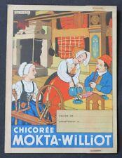Protège cahier CHICOREE MOKTA WILLIOT fileuse copybook