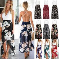 Womens Ladies Sleeveless Beach Summer Dress Chiffon Lace Bodycon Party Dresses