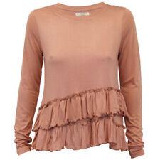 Maglie e camicie da donna a manica lunga rosa taglia M